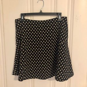 Limited - black/tan polka dot skirt - medium